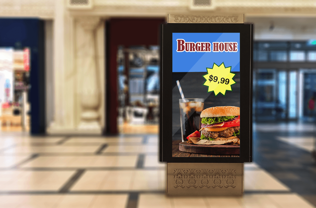 Digital Signage storefront display